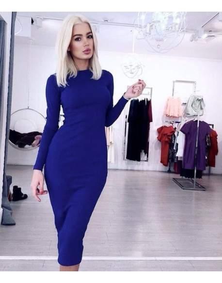 Платье женское миди электрик 463