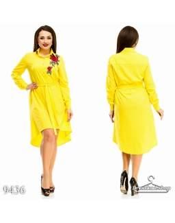 Платье - рубашка 9436