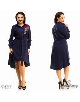 Платье - рубашка 9437
