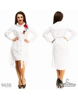Платье - рубашка 9438