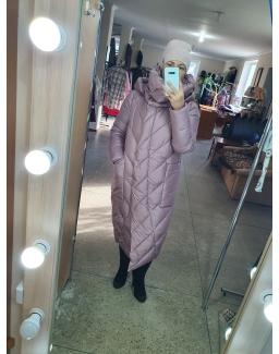 Жкенское зимнее пальто Maxs Mara пудра 23983