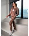 Велюровый спортивный костюм мокко 24318